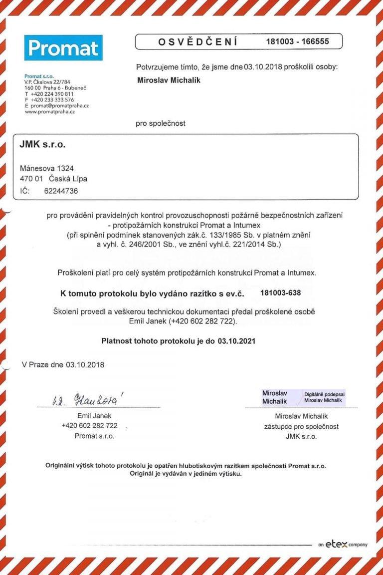 Úvod | JMK s.r.o. | Komplexní služby v oblasti BOZP a PO - Česká Lípa
